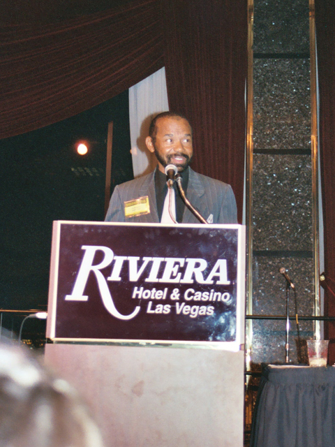 Hubert Laws receiving the National Flute Association's Lifetime Achievement Award 2003